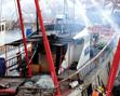 北海举行休渔期渔港消防联合演练