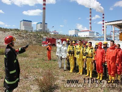 锡林郭勒深入上都电厂 开展实战灭火演练