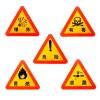 反光1mm铝板安全警示牌危险品爆炸有毒易燃泄露 1套5款