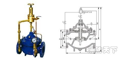 500x泄压阀结构简图