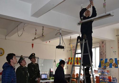 秦皇岛开发区消防为儿童和老人建筑安装报警器
