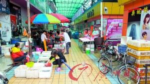"""商业街消防通道竟""""沦为""""菜市场"""