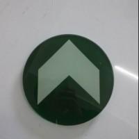 正方形钢化玻璃 夜光安全地标 嵌入式出口导向发光标识